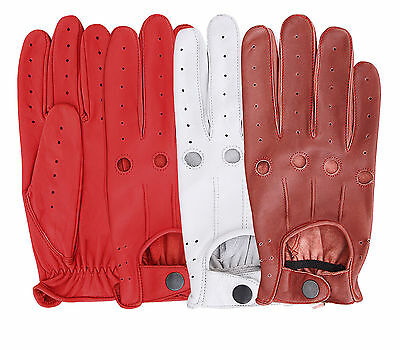 Top Quality R Men's Dress Gloves 100% Real Leather Unlined Chauffeur Driving  • 14.99£