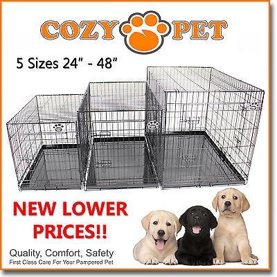 £32.99 • Buy Dog Cage Cozy Pet Puppy Crate Black  5 Sizes Travel Crate Cat FREE 48H Delivery