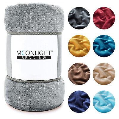£15.99 • Buy Faux Fur Fleece Throw Soft Warm Mink Large Sofa Bed Blanket Double King Sizes
