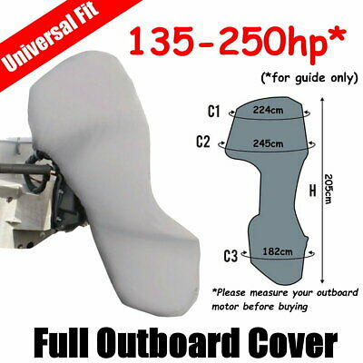 AU59 • Buy 135-250hp Full Outboard Boat Motor Engine Cover Dust Rain Protection Grey