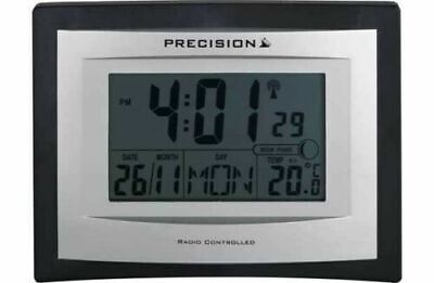 £18.99 • Buy Precision Radio Controlled Date & Day LCD Wall Mountable / Desk Clock PREC0102