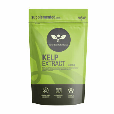View Details KELP 500mg Tablets Sea Kelp, Source Of Iodine ✔UK Made ✔Letterbox Friendly • 5.99£