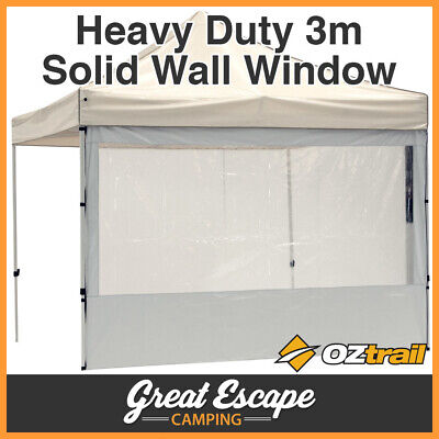 AU59.90 • Buy OZtrail Gazebo Heavy Duty 3m Solid Wall With PVC Window White