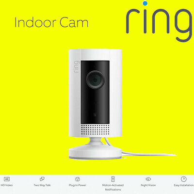 £49.95 • Buy RING Indoor Cam - Compact Camera 1080p HD Live View Night Vision Two Way Audio