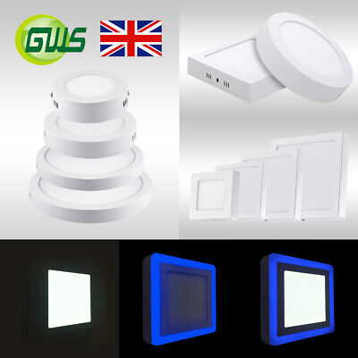 £12 • Buy LED Surface Mounted Ceiling Slim Panel DownLight Round Square Top Quality