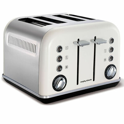 AU79 • Buy Morphy Richards 242021 White Chrome Accents 4 Slice Toaster Stainless Steel
