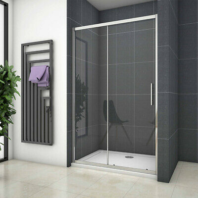 New Double/Single Sliding Shower Enclosure  Cubicle Screen Door 6mm Safety Glass • 96.99£
