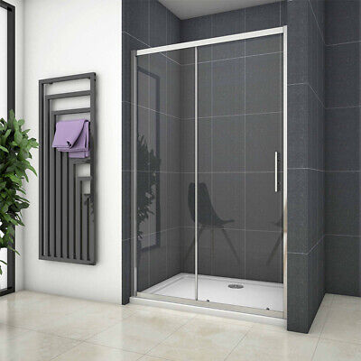 New Double/Single Sliding Shower Enclosure  Cubicle Screen Door 6mm Safety Glass • 104.58£