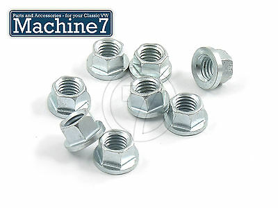 £7.20 • Buy Classic VW Beetle Engine Inlet Exhaust Manifold Nuts Slimline 10mm A/F M8 Bug X8