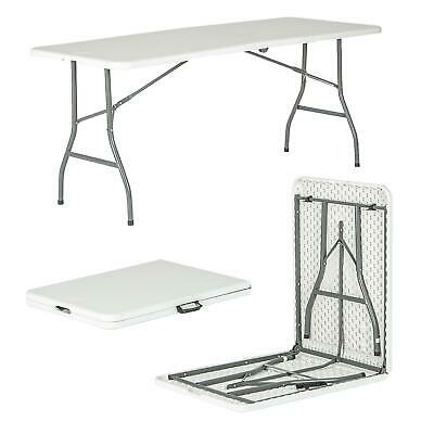 6ft Folding Desk - Pop-Up Portable Trestle Table - Garden Camping Party Picnic • 38.99£