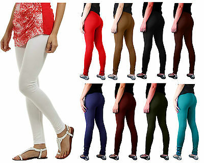 £3.99 • Buy New Ladies Cotton Leggings Full Length All Colors Womens Skinny Fit Size 8 - 22