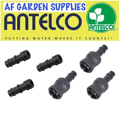 Snap-on Connector Set For 13mm Garden Irrigation/Hydroponics Pipe/Tube,3 Pairs  • 10£