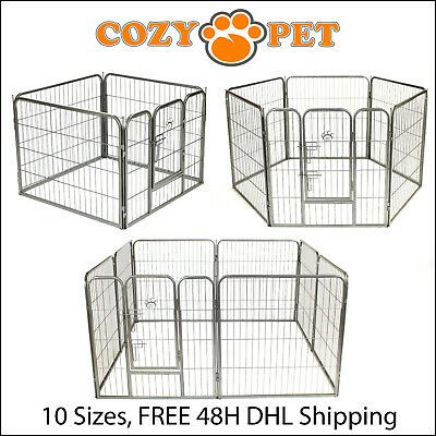 £39.99 • Buy Heavy Duty Cozy Pet Puppy Playpen Run Crate Pen Welping Dog Cage 9 Sizes