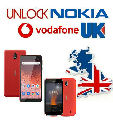 Unlock Code Nokia 1 1 Plus Nokia 7.1 Lumia 625 635 640 650 VODAFONE UK • 4.29£