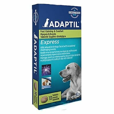 £10.49 • Buy Adaptil Express Stress AnxietyRelief Calming Tablets Supplies For Pet Dogs X 10