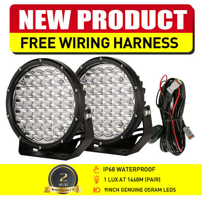 AU108.99 • Buy Pair 9inch 99999W LED OSRAM ROUND Driving Spot Work Lights Offroad SUV Spotlight