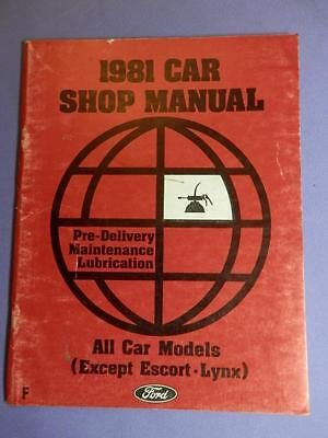 $3 • Buy 1981 Ford Lincoln Mercury Car Shop Manual Pre-Delivery Lubrication & Maintenance