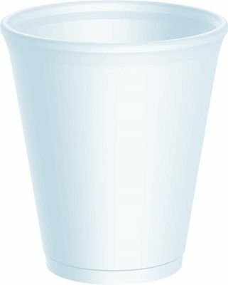 8oz Polystyrene Cups Takeaway/Cafe **choose Qty With Or Without Lids** • 10.79£