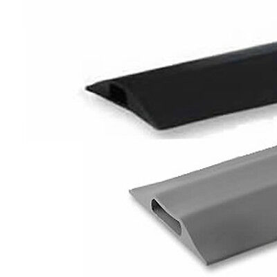 Rubber Cable Tidy Floor Cover Protector Ducting Safety Ramp Black Or Grey 0.1-9m • 10.69£