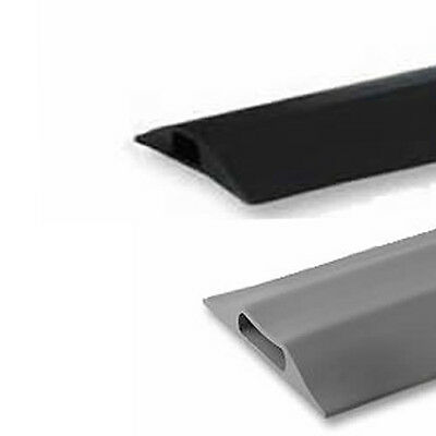 Rubber Cable Tidy Floor Cover Protector Ducting Safety Ramp Black Or Grey 0.1-9m • 11.29£