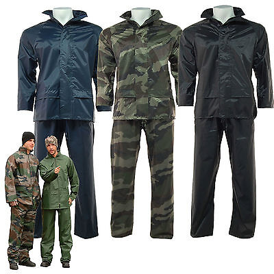 Arctic Storm Waterproof Rain Suit Hooded Jacket , Over Trousers Camouflage Set • 6.95£