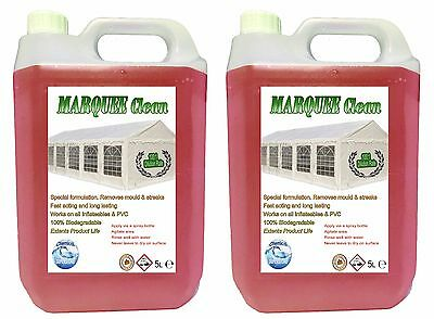 £27.99 • Buy Heavy Duty Marquee Tent Inflatable PVC Cleaner Degreaser 2 X 5L Jerry (10L)