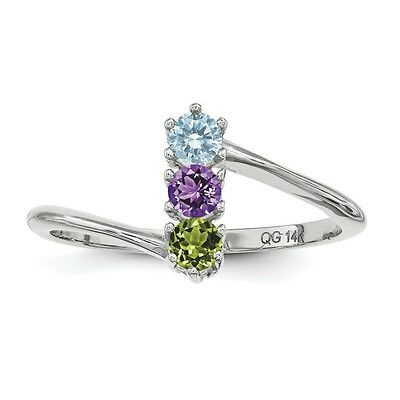 $75 • Buy Custom Birthstone Ring 1- 4 Stones Sterling Silver, Mother's Day Jewelry Ring