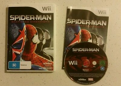 AU15.16 • Buy WII Spider-Man Shattered Dimensions - NINTENDO WII / WII U- Complete- Free Post!