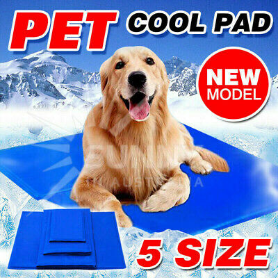 AU21.95 • Buy Pet Cool Gel Mat Dog Cat Bed Non-Toxic Cooling Dog Summer Pad 5 Sizes FAST POST