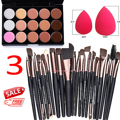$9.29 • Buy 15 Colors Makeup Contour Face Cream Concealer Palette Professional + 20 BRUSH SP