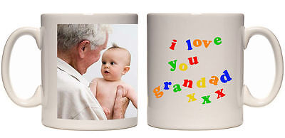 Christmas Gift I Love You Grandad Personalised Mug Custom Xmas Present Photo Mug • 8.99£