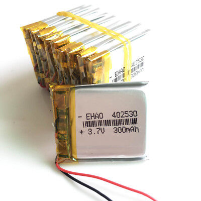 £15.99 • Buy 10pcs 3.7V 300mAh 402530 Lipo Polymer Rechargeable Battery For MP3 Bluetooth DVD