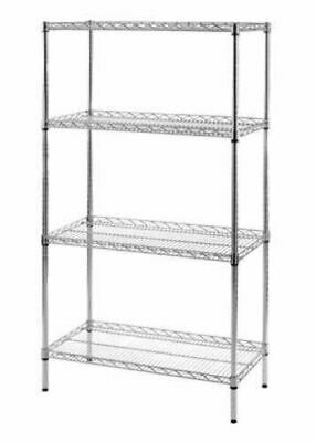 New Chrome Wire Shelving Heavy Duty Display Commercial Racking • 92.12£