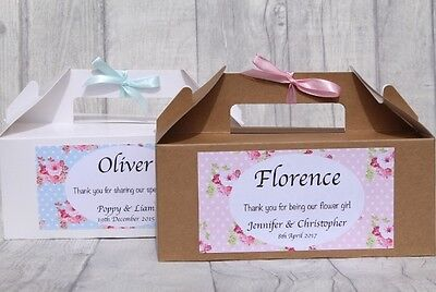 £1.85 • Buy Personalised Childrens  Wedding Activity Box Party Bag  Gift FLORAL KRAFT
