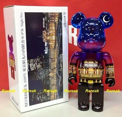 $322.99 • Buy Medicom Be@rbrick 2015 Japan Tokyo Station 100th Anni. 400% Night Ver. Bearbrick