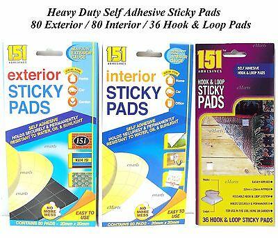 £2.20 • Buy 80 Strong Sticky Pads Double Sided Foam Self Adhesive Home Office Mounting Tape