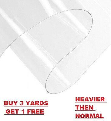 £4.89 • Buy High Quality Clear Plastic Waterproof Tablecloth Protector Vinyl PVC Fabric