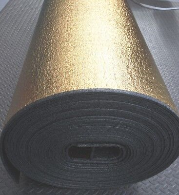 5mm Natural Gold Laminate Engineered Wood Flooring Underlay Sound Damp Proof DPM • 60.80£