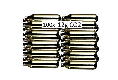 100 X 12g Co2 Gas Capsule Cartridge Air Rifle Pistol Gun Airgun 12 Gram • 31.99£
