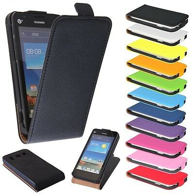 AU13.29 • Buy Huawei Ascend G510 Black Flip Case Cell Phone Cover Protector Shell Pouch