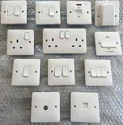 £6.20 • Buy  Hager Sollysta Range  Switches -  Sockets & Accessories