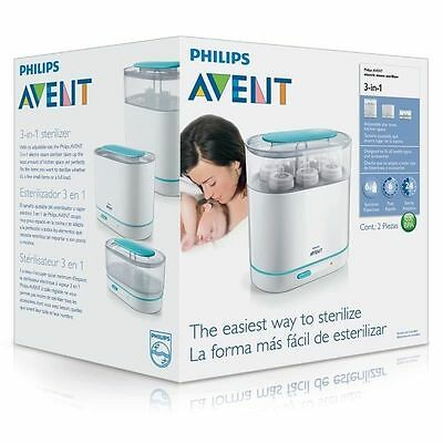 AU113.99 • Buy BRAND NEW PHILIPS Avent 3 In 1 Electric Steam Steriliser 0% BPA FREE - Free Post