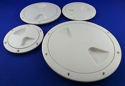 £8.99 • Buy White Round Plastic Waterproof Access Inspection Hatch - Boat Motor Home - New