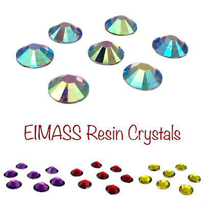 £3.99 • Buy EIMASS® Resin Crystals, Flat Back Gems For Costumes, A True Alternative To Glass