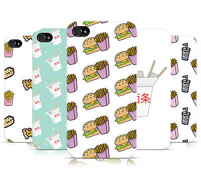 £4.95 • Buy Dyefor Fast Food Collection Hard Mobile Phone Case Cover For Apple Iphone 4 4s