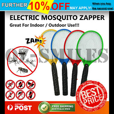 AU14.55 • Buy 2x Electric Bug Zapper Racket Fly Swatter Mosquito Killer Insects Bat Handheld