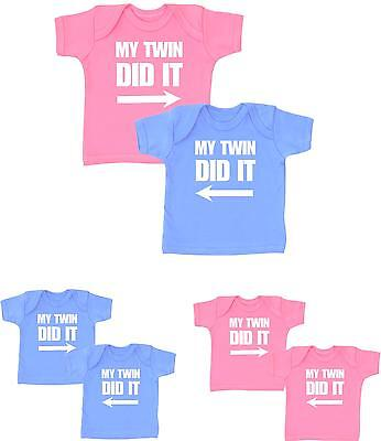 BABYPREM Baby Girls Boys Clothes Pack 2 TWINS Funny T-Shirts Tops Shower Gifts  • 11.99£