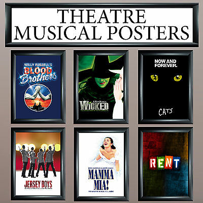 £2.99 • Buy Musical Theatre Posters - Upto A1 Size - Frames Available - Free Uk P&p