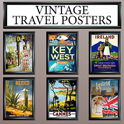 Vintage Retro Travel Wall Deco/art Print - Large A3 Or A4 Free Uk P&p • 2.99£