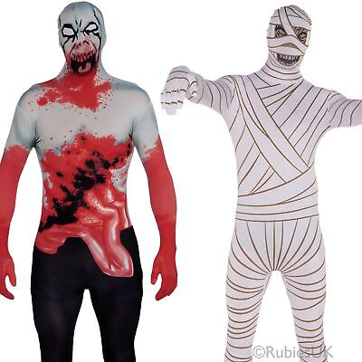 Mens Halloween 2nd Skin Tight Full Bodysuit Adult Horror Fancy Dress Costume • 9.98£